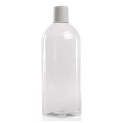 Shampoo fles met klapdeksel - Ovaal - 250 ml